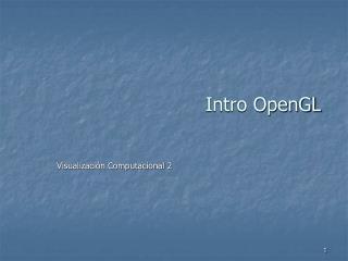 Intro OpenGL