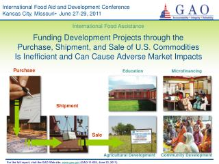 International Food Aid and Development Conference Kansas City, Missouri  June 27-29, 2011