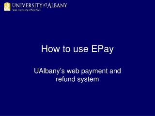 How to use EPay
