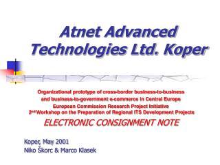 Atnet Advanced Technologies Ltd. Koper