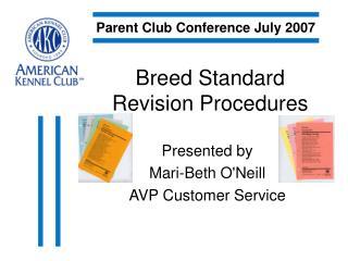 Breed Standard Revision Procedures