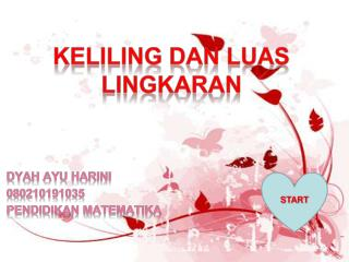 KELILING DAN LUAS LINGKARAN DYAH AYU HARINI 080210191035 PENDIDIKAN MATEMATIKA