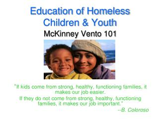 Education of Homeless Children & Youth