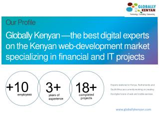 Globally Kenyan � th e best digita l ex perts