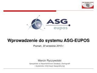 Marcin Ryczywolski Specjalista w Departamencie Geodezji, Kartografii