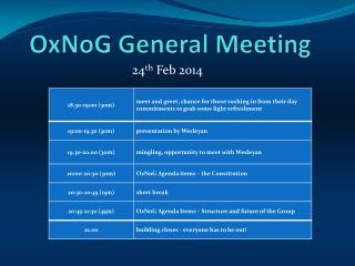 OxNoG  General Meeting