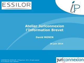 Atelier Juriconnexion l'Information Brevet David MONIN