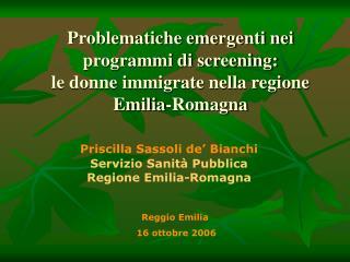 Reggio Emilia  16 ottobre 2006