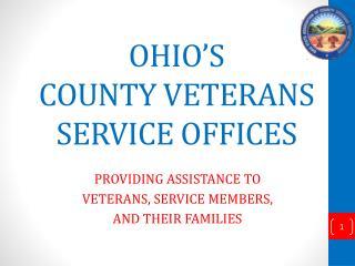 OHIO'S COUNTY VETERANS SERVICE OFFICES
