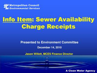 Info Item : Sewer Availability Charge Receipts
