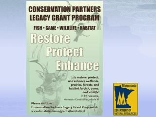 Conservation Partners Legacy Grants Program