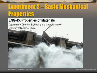 Experiment 2 – Basic Mechanical Properties