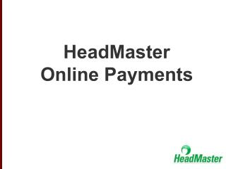 HeadMaster Online Payments