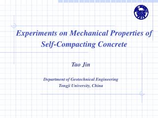 Experiments on Mechanical Properties of Self-Compacting Concrete
