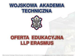 OFERTA  EDUKACYJNA LLP ERASMUS