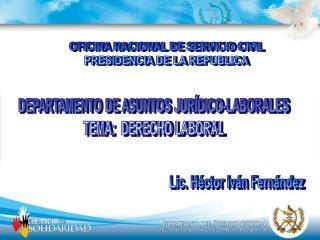 OFICINA NACIONAL DE SERVICIO CIVIL PRESIDENCIA DE LA REPUBLICA