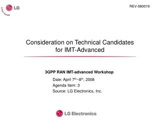 Consideration on Technical Candidates  for IMT-Advanced