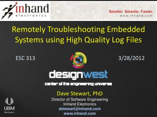 Remotely Troubleshooting Embedded Systems using High Quality Log  Files