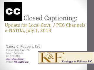 Closed Captioning: