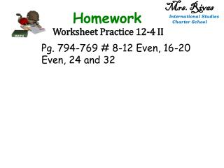 Worksheet Practice 12-4 II