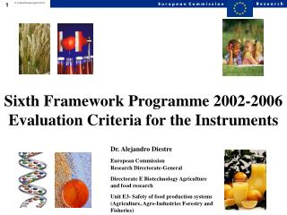 Sixth Framework Programme 2002-2006 Evaluation Criteria for the Instruments