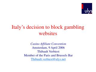 Italy's decision to block gambling websites