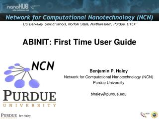 ABINIT: First Time User Guide