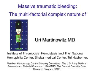 Massive traumatic bleeding: The multi-factorial complex nature of