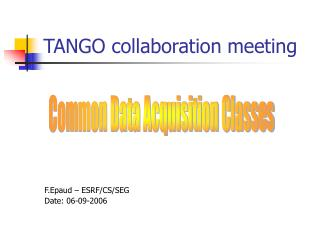 TANGO collaboration meeting