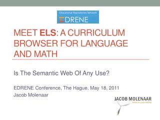 Meet Els: a Curriculum browser for language and math