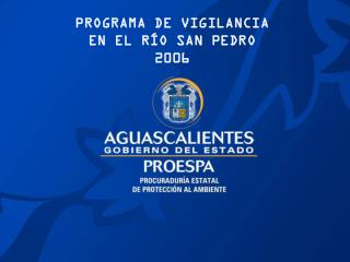 PROGRAMA DE VIGILANCIA EN EL RÍO SAN PEDRO 2006