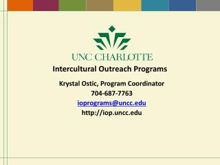 Intercultural Outreach Programs