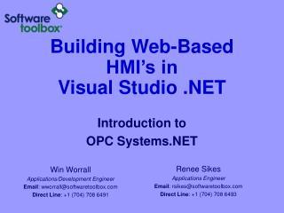 Building Web-Based HMI's in Visual Studio .NET