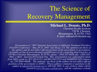 The Science of Recovery Management