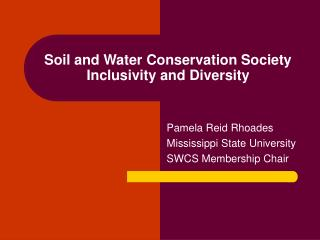 Soil and Water Conservation Society Inclusivity and Diversity