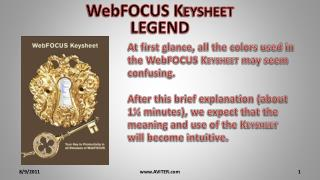 WebFOCUS K eysheet LEGEND