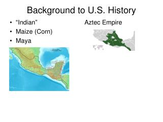 Background to U.S. History
