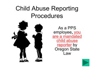 Child Abuse Reporting Procedures