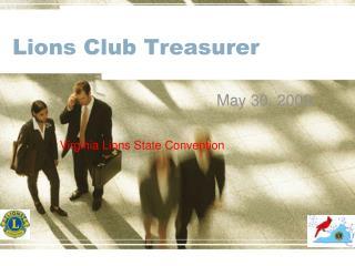 Lions Club Treasurer