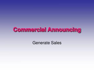 Commercial Announcing