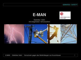 E-MAN Elektriker  Helm mit integriertem  Schutzschirm