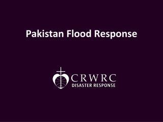 Pakistan Flood Response