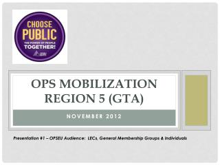 OPS Mobilization Region 5 (GTA)