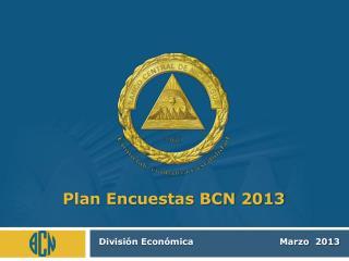 Plan Encuestas BCN 2013