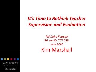 Why the Supervision Process  Often Misses the Mark