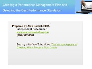 Creating a Performance Management Plan and Selecting the Best Performance Standards