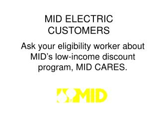 MID ELECTRIC CUSTOMERS