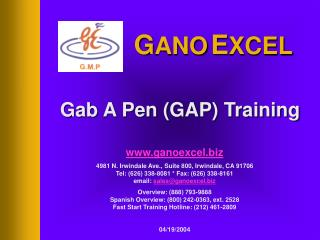 Gab A Pen (GAP) Training