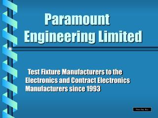 Paramount Engineering Limited