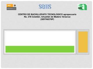 CENTRO DE BACHILLERATO TECNOLOGICO agropecuario No. 278 Colatlán, Ixhuatlán de Madero Veracruz